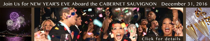 New Years Eve 2016-17, party on the bay, boat party, dinner on the bay, party on the bay