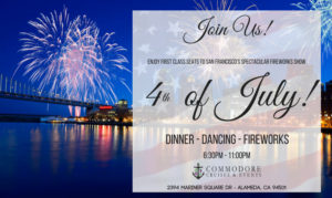 4th of july yacht boat cruise dinner dj fireworks event party